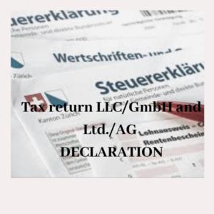 tax declaration Switzerland